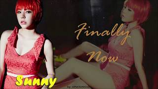 SUNNY - FINALLY NOW lyrics (Han_Rom_Eng)
