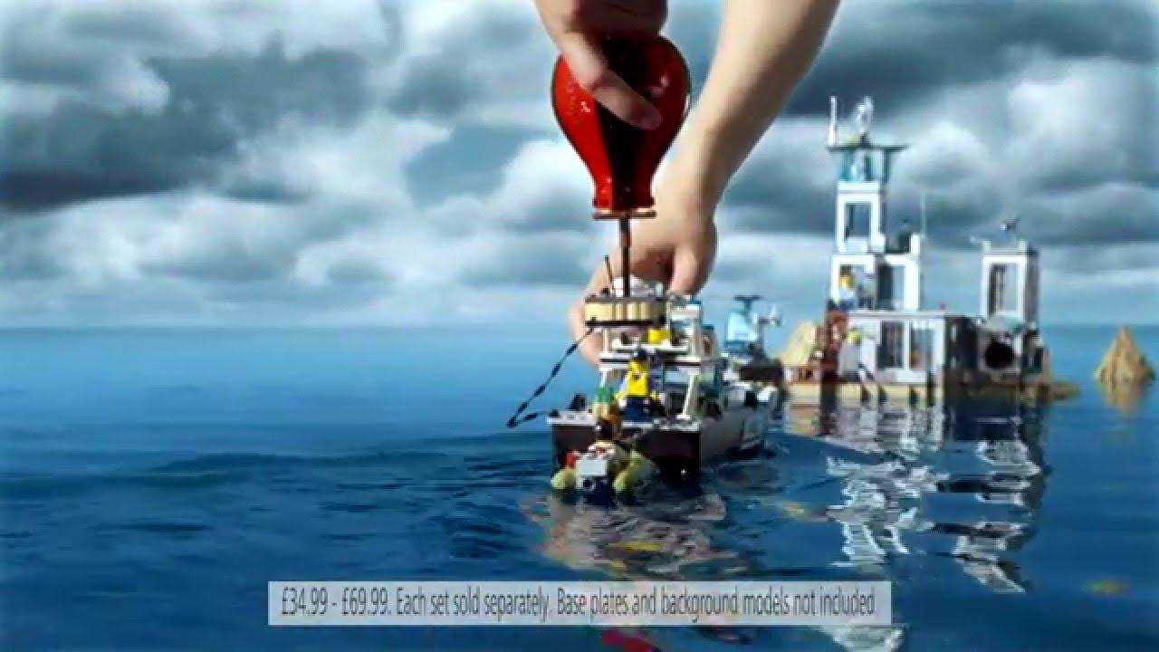 Lego City Police Prison Island Police Patrol Boat Toys