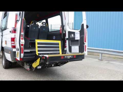 mercedes 16 seat van conversion sensory spec tail lift