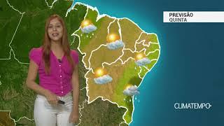 Previsão Nordeste - Mais instabilidade na costa da BA