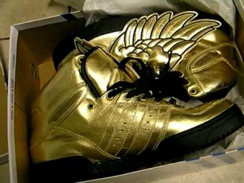 Jeremy Scott Adidas Shoes Black/white, Purple/Yellow, Gold & White ...