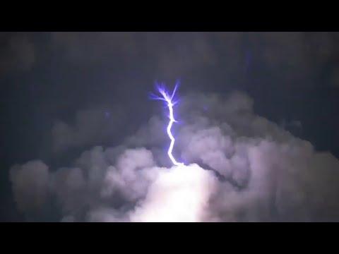 Rare volcano lightning