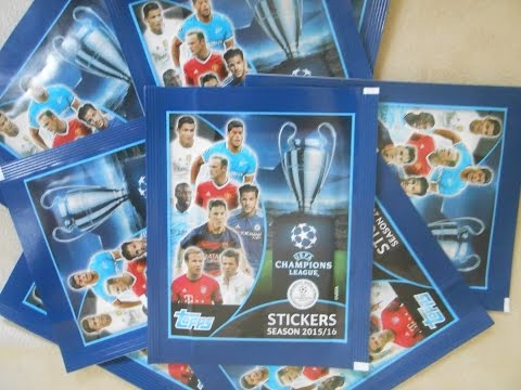 2015/16 UEFA Champions League Stickers 10 Pack Break