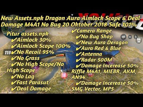 New Assets.npk Dragon Aura Aimlock Scope & Deal Damage M4A1 No Bug 20 Oktober 2018 Safe 101%