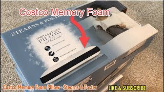costco memory foam pillow stearns foster really good pillow