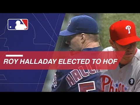 Watch Halladay's career highlights following his election to HOF