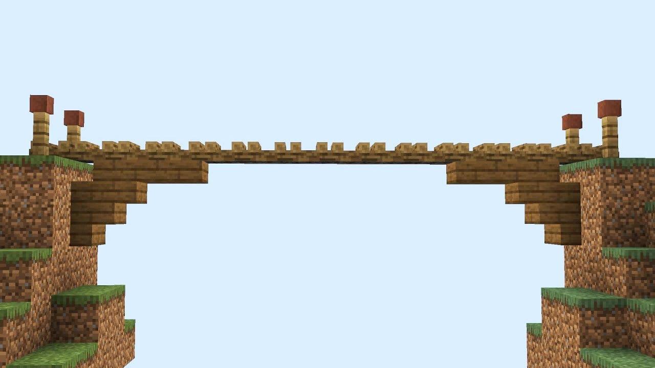формально мост в майнкрафте из дерева вести