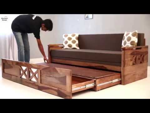 buy couch online sofa cum bed buy medway convertible couch online in teak 11846 | hqdefault
