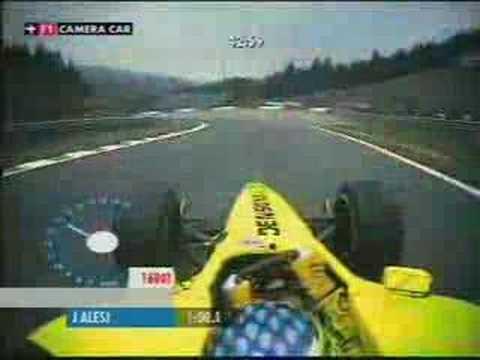 Jordan ej11 qualifying lap spa 2001