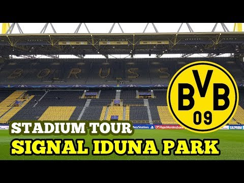 STADIUM TOUR: Signal Iduna Park: BORUSSIA DORTMUND FC (The Largest Football Stadium in Germany)