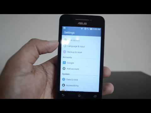 How to Reset ASUS Zenfone 4 to Factory Settings
