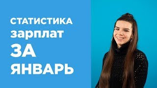 Средние зарплаты в России — январь 2019