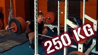 Приседание в низкий сед 250 кг