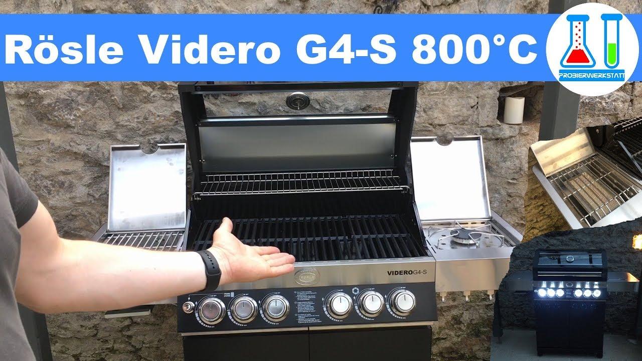 Rösle Gasgrill Videro G4 : Videro g s von rÖsle der schwabengriller