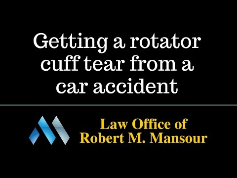 Santa Clarita Injury Lawyer on Rotator Cuff Tears