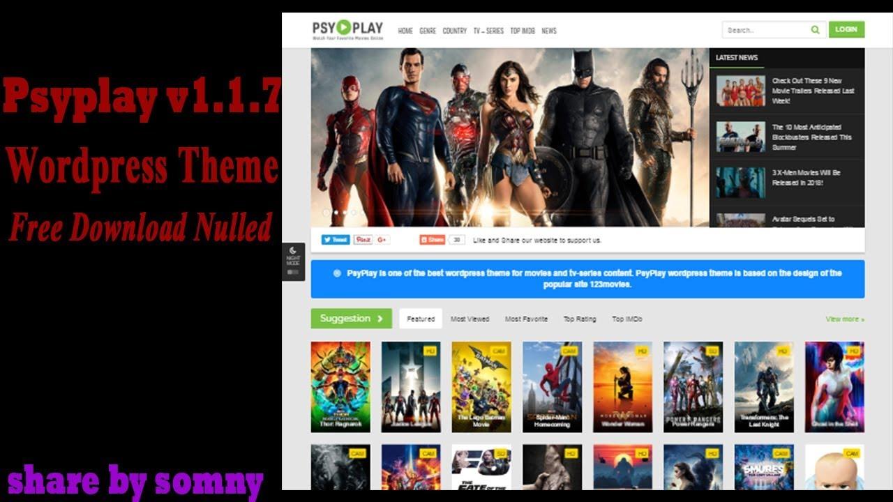 ខ្មែរ How To install Psyplay v1 1 7 Wordpress Theme Free Download Nulled