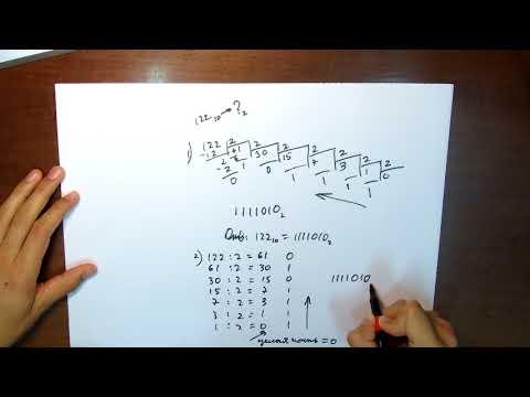 Как перевести числа в двоичную систему