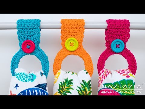 How to Crochet a Hanging Ring Towel Holder – Easy Toppers for Kitchen