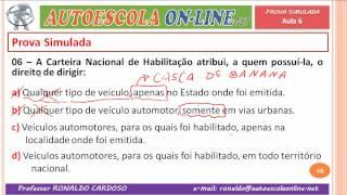 06 RESOLUÇÃO DE QUESTÕES SOBRE PROCESSO DE HABILITAÇÃO, CNH, PPD, VEÍCULO E DOCUMENTOS