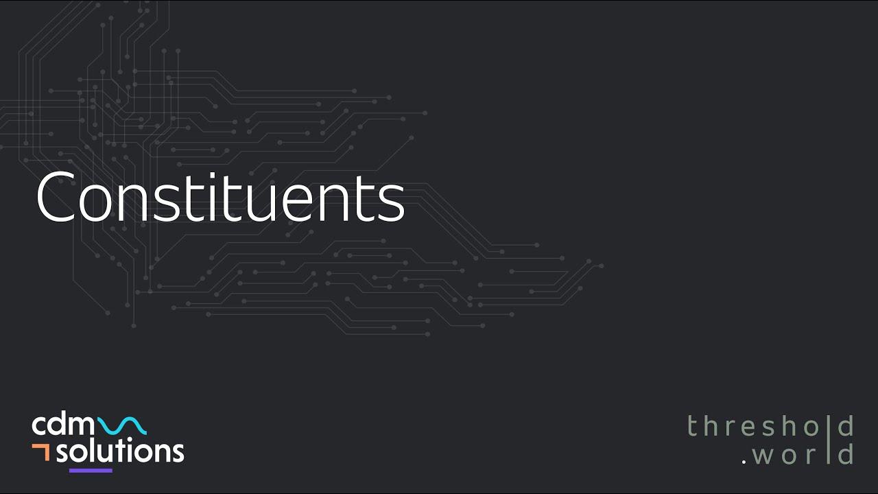 CDM Solutions - Constituents