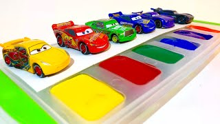 Disney cars lightning mcqueen learn colors with disney pixar cars 3 tomica toys