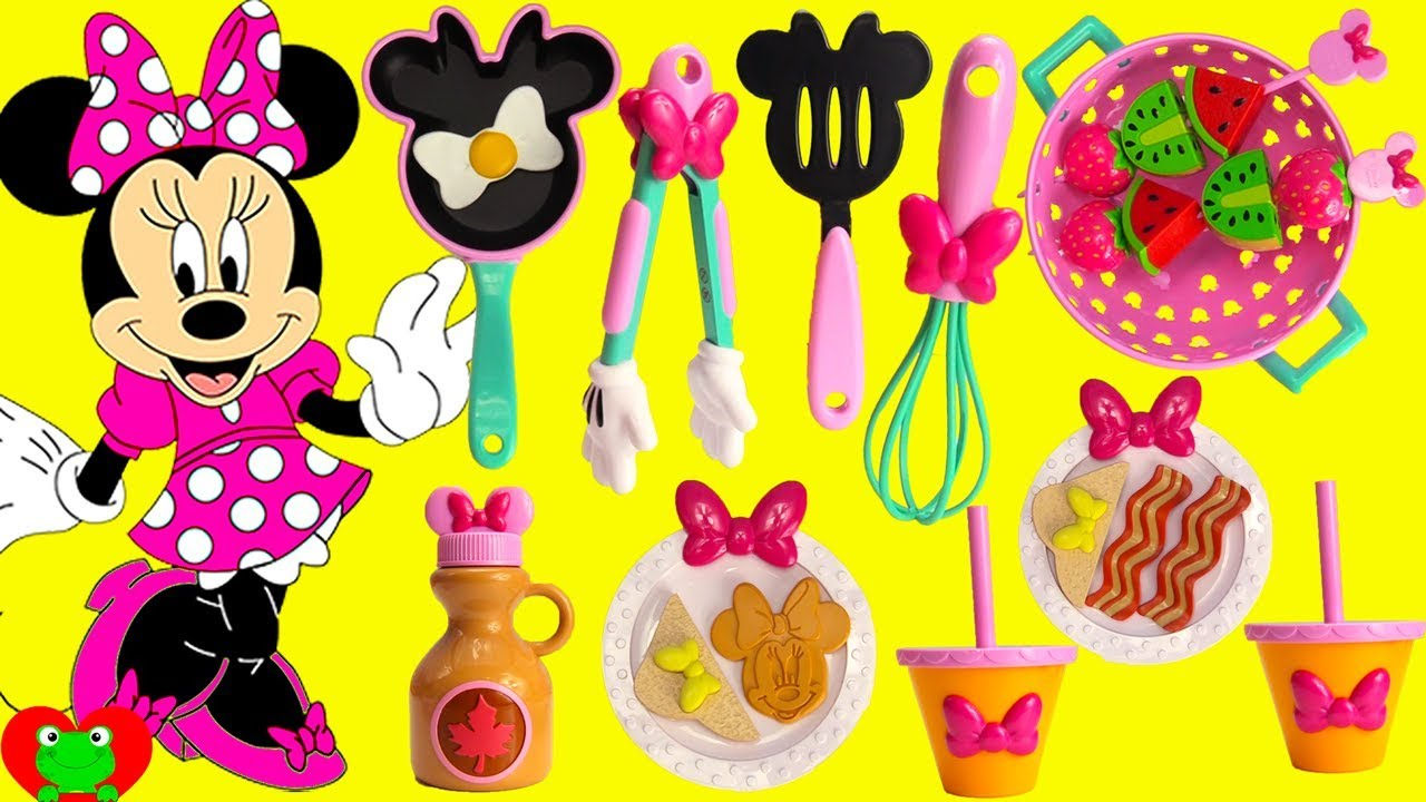 Cooking with Disney Minnie Mouse Learn Kitchen Toys - YouTube