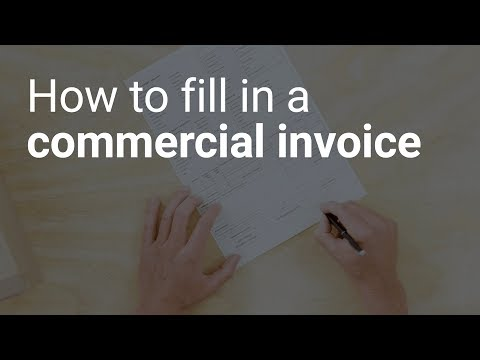 How To Fill In A Commercial Invoice