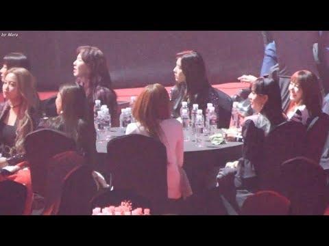 180125 블랙핑크 (BLACKPINK), 레드벨벳 (Red Velvet) BTS_MIC Drop 무대 리액션 직캠 Fancam (2018 서울가요대상) by Mera