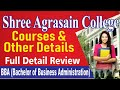 SHREE AGRASAIN COLLEGE  (  BBA College ) - Course Details & Fees Ll 2020-21 Ll ( Howrah College )