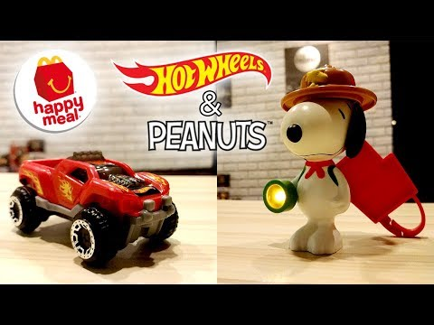 Monald&39;s HAPPY MEAL January 2018 - Peanuts&39; Snoopy & Hotwheels  Unbox Everything Philippines