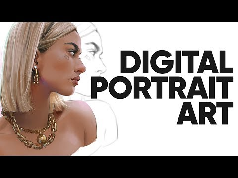 My Painting Process For Digital Portraits