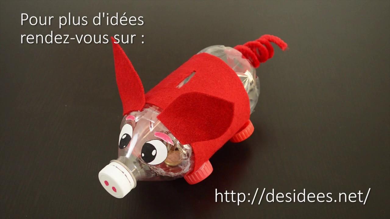 diy une tirelire cochon en bouteille plastique youtube. Black Bedroom Furniture Sets. Home Design Ideas