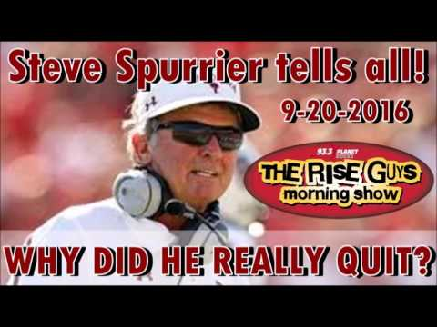Steve Spurrier interview 9-20-16 - Why he quit The Gamecocks early, Florida Gators, etc