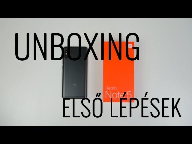 Xiaomi Redmi Note 5 (Pro) unboxing és első lépések