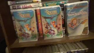 3 Different VHS Versions of The Rescuers Down Under