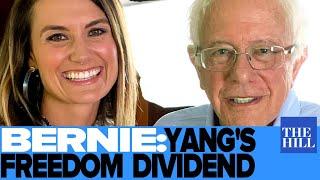 Bernie Sanders takes on Andrew Yang's Freedom Dividend