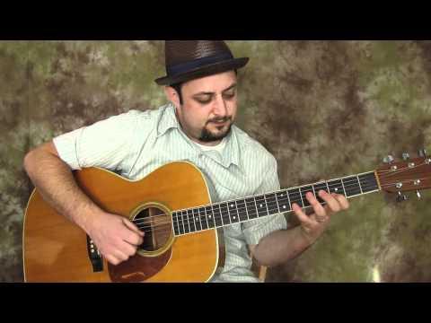 Blues Guitar  lesson - In G Phrasing Over G Progression