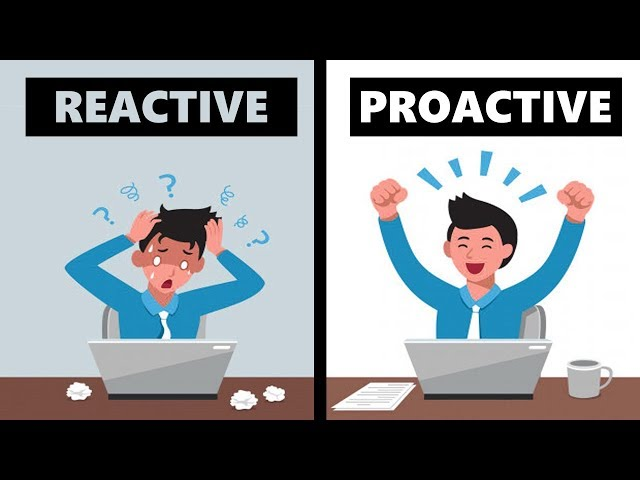 Proactive Vs Reactive  - How To Be Proactive In Life