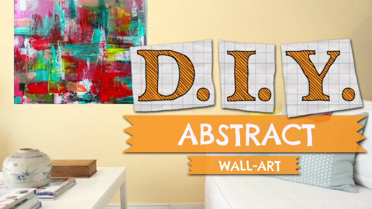 DIY ABSTRACT ART (without paint brush) - YouTube