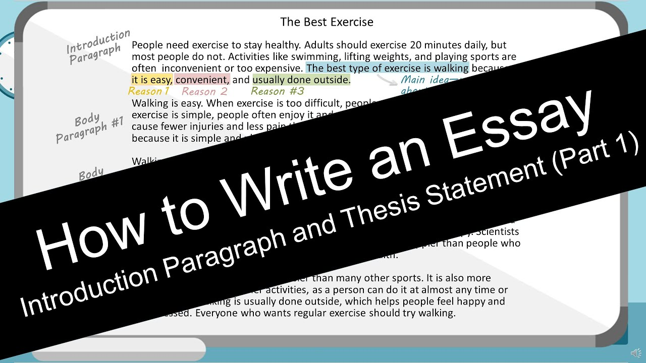 How to Write an Essay: Introduction Paragraph (with Worksheet)