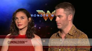 WONDER WOMAN - Gal Gadot and Chris Pine Interview