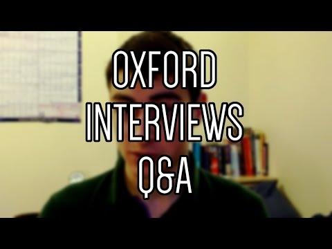Oxford Interviews Q & A