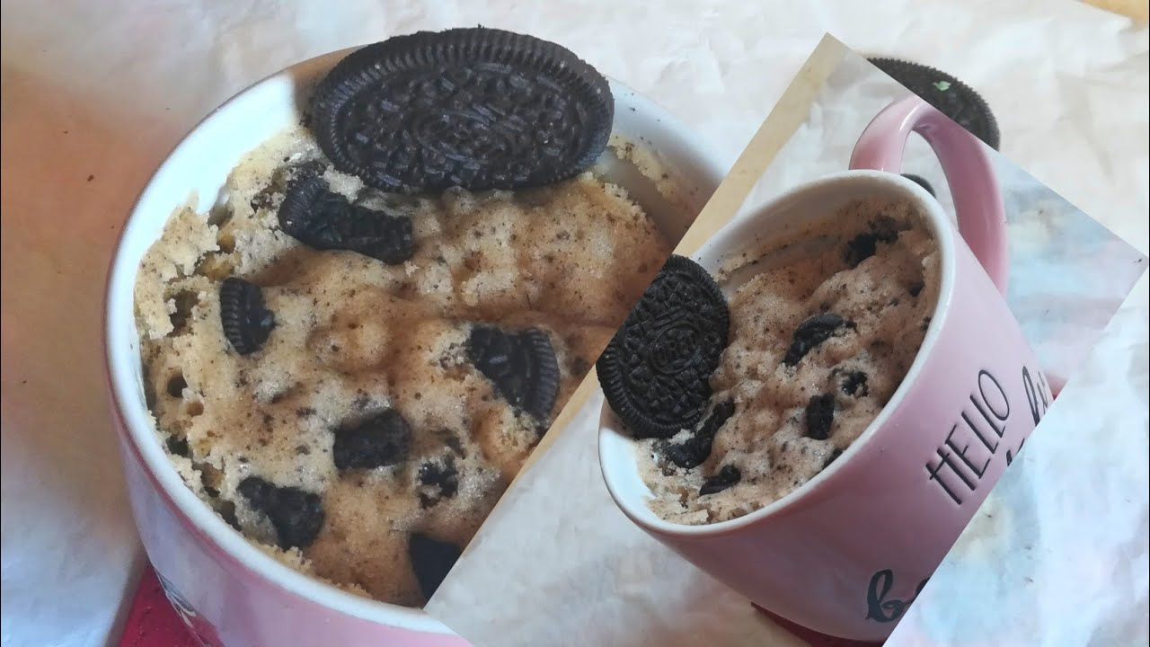 Oreo mug cake in 2minute। Microwave eggless cake recipe ...