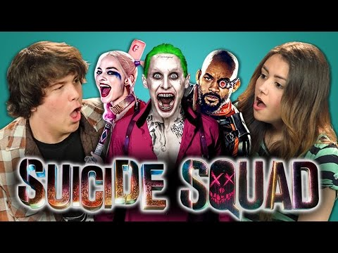 ADULTS REACT TO SUICIDE SQUAD TRAILER