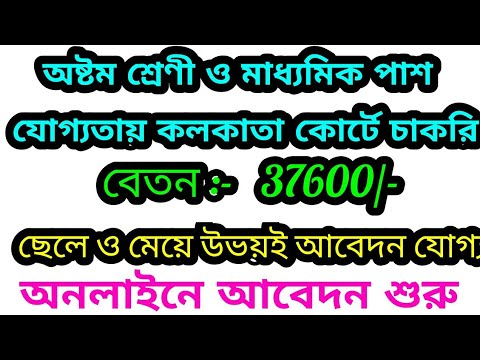 Madhyamik Pass Government Job Vacancy News