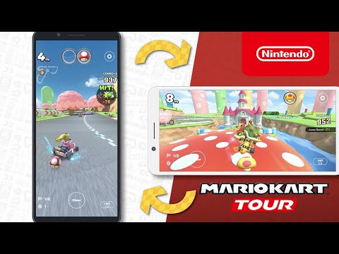 Mario Kart Tour - Race in portrait or landscape, your choice!