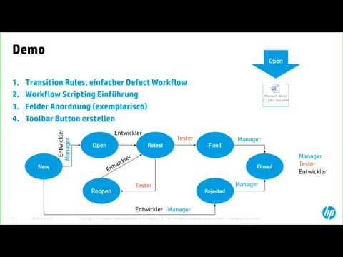 HPE ALM Sample Defect Workflow - YouTube