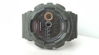 Огляд і параметри Casio G-Shock GD-100MS-3E (Review and setting)