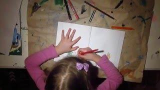 Как нарисовать зайца, белку, волка и лису(ДЛЯ ДЕТЕЙ! Процесс рисования зверей цветными карандашами., 2016-02-17T18:32:39.000Z)