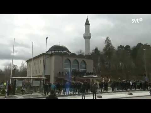 First Azan - Muslim call to prayer in Stockholm - Sweden